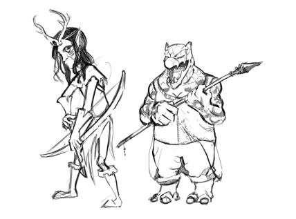 Rhogar the Druid & Dragonface the Warden